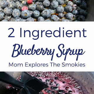 2 Ingredient Blueberry Syrup