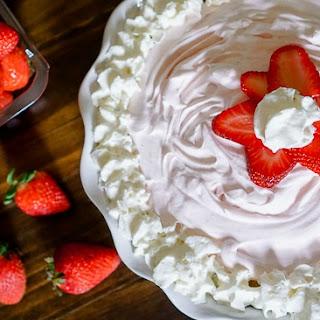 Frozen Strawberry Yogurt Pie.