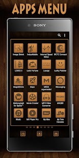 Wooden Icons Brown XZ Theme - náhled