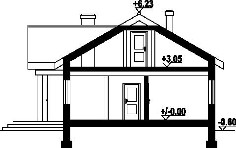 Chmielów z garażem mx - Przekrój