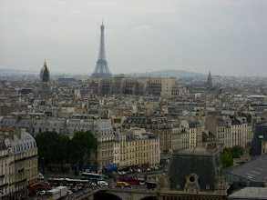 Photo: View of Eiffel Tower from Notre Dame