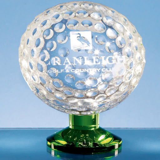 Optical Crystal Golfball on Green Base