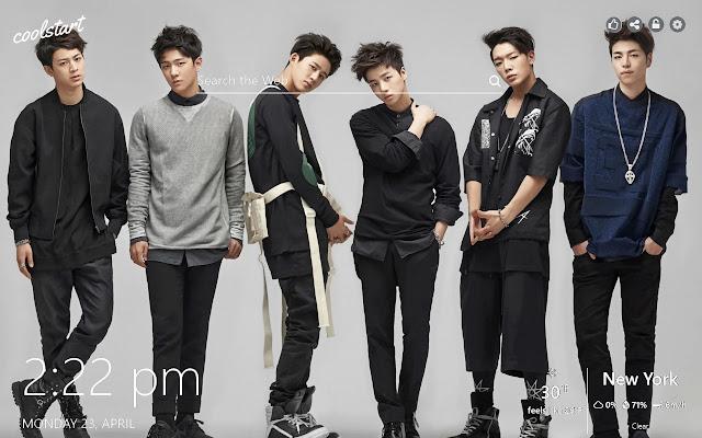 iKON HD Wallpapers K-Pop Music New Tab Theme