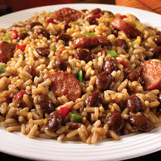 Uptown Red Beans and Rice with Turkey Sausage.