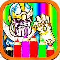 Capitan Thanos Coloring Pages icon