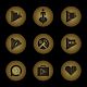 Radial Glow Gold Icons Download on Windows