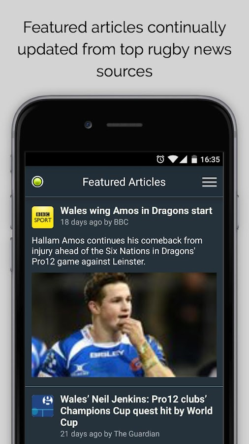 Dragons Rugby Sport RightNow- screenshot