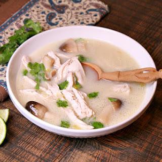 Thai Coconut Chicken Soup.