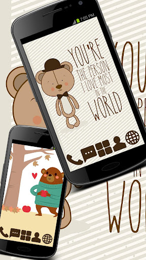 Cartoon Bears Theme GO ADW
