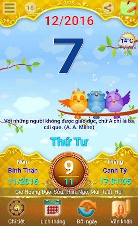 Lich Van Nien - Lịch VN 2016 7.5 screenshot 334428