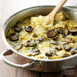 One-Pan Creamy Mushroom Ravioli