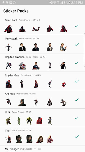 +100 Marvel WAStickerApps Figurinhas Super Heroes 이미지[4]