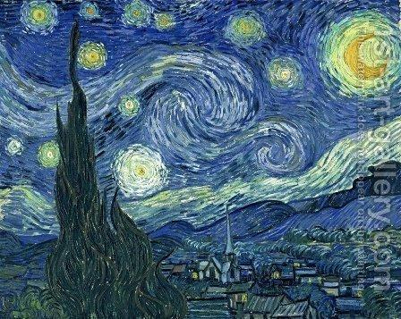 Starry Night. The painting by Vincent Van Gogh