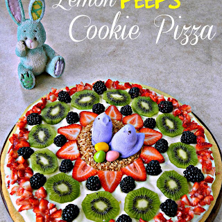 Lemon PEEPS Cookie Pizza