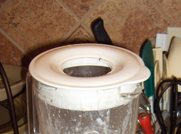 Leave out the center  hole of your blender lid, in order to allow...