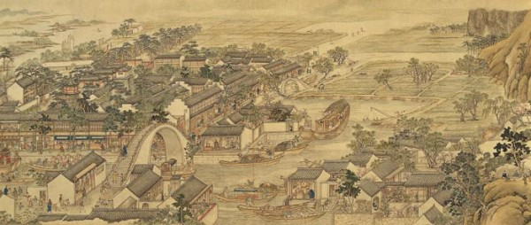 A depiction of the city of Chang'an from the slightly later Song period