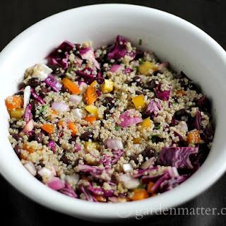 Quinoa Salad with Black Beans and Lime Vinaigrette.