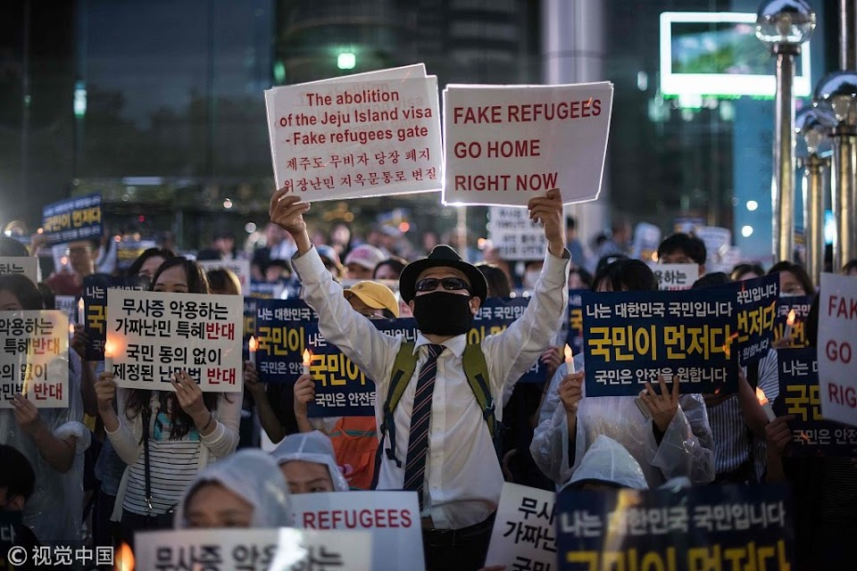 refugee protest