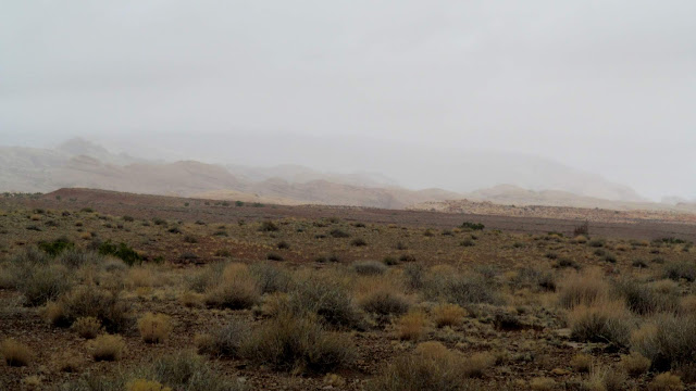 Rain on the San Rafael Reef