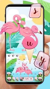 Pink Flamingo Keyboard Theme Premium Apk (Cracked) 2