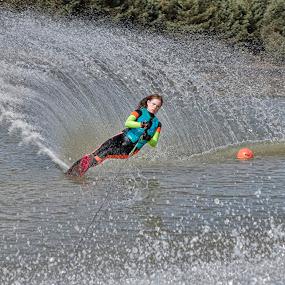 Life On The Water  by Tony Munro - Sports & Fitness Watersports ( #bwswb, #lifeonthewater, #slalomlife, #outdoorpursuits, #teamgb, #makingwaves, #girlswhowaterski, #contender, #younganddedicated, #whitworthwaterskiacademycic, #dedication, #splash )