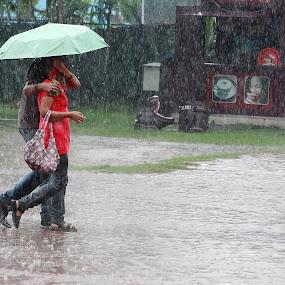 by Partha Chatterjee - City,  Street & Park  Street Scenes (  )