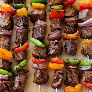 Grilled Steak Kebabs.