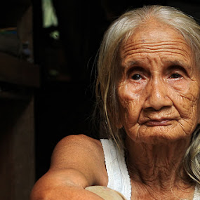 Not Indian,  by Syamsu Hidayat - People Portraits of Women ( poeple, senior citizen, portrait )