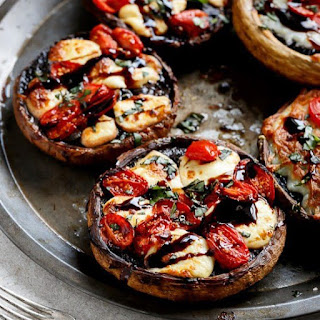 Low Carb Margherita Pizza with Portobello Mushroom Crust Recipe