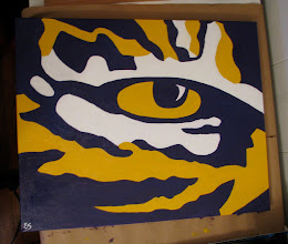 Photo: LSU Tiger Eye Oil Painting 2009 Blog Post: http://createsharerepeat.blogspot.com/2010/09/no-excuses.html