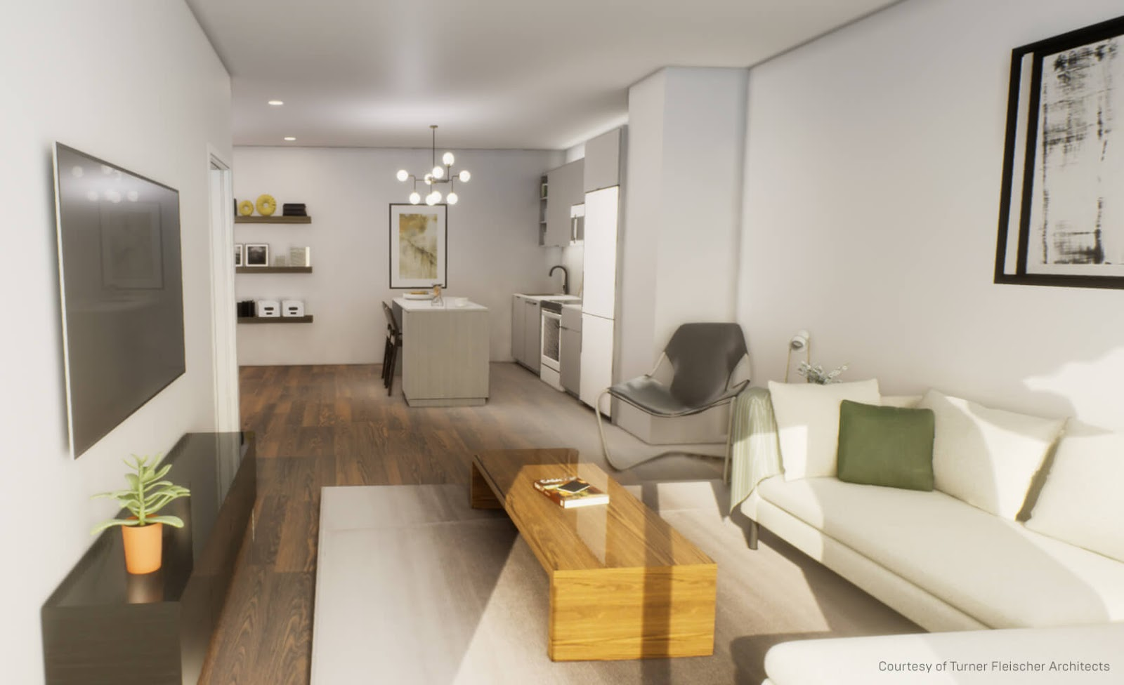 Residential interior modeled in SketchUp and rendered in Unreal Engine