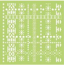 Kaisercraft Designer Template 6X6 - Nordic Weave