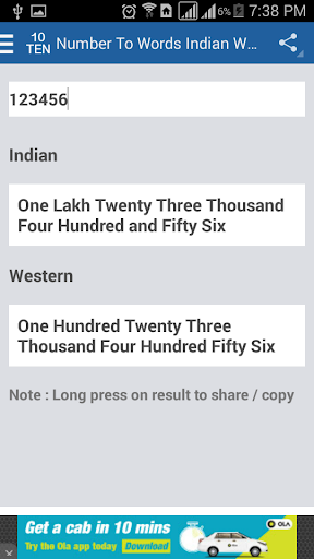 Number To Words Indian Western