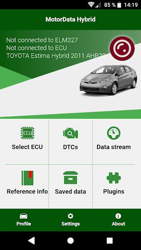 Doctor Hybrid ELM OBD2 scanner. MotorData OBD 1.0.7.29 screenshots 1