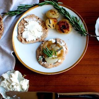 Flatbread Crostini With Cipollini Onions & Chèvre