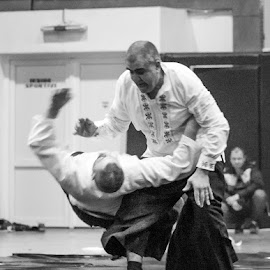 Fatality by Bogdan Rusu - Sports & Fitness Other Sports ( figure, white, black, aikido, fight )