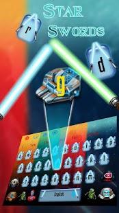 Téma klávesnice Star Sword - náhled