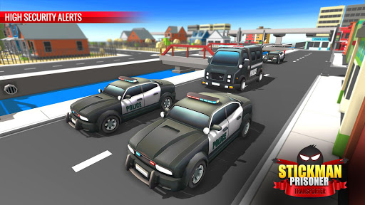 US Police Stickman Criminal Plane Transporter Game apktram screenshots 6