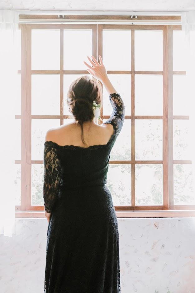 黑色永恆的美式婚紗 一直是許多新人鍾愛的婚紗樣式
