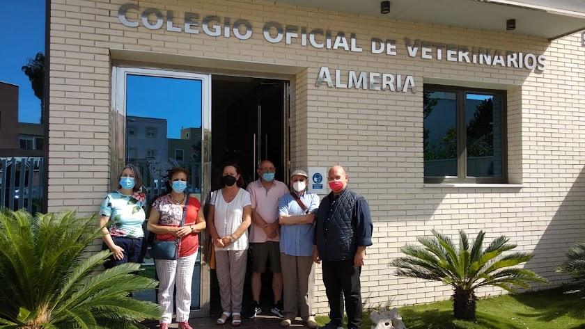 Miembros de la Asociación La Palmera.