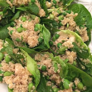 Quinoa Edamame Lettuce Wraps