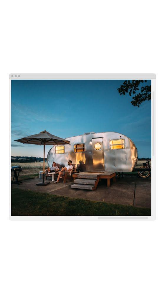 Vintage Camper Window - Facebook Story Template