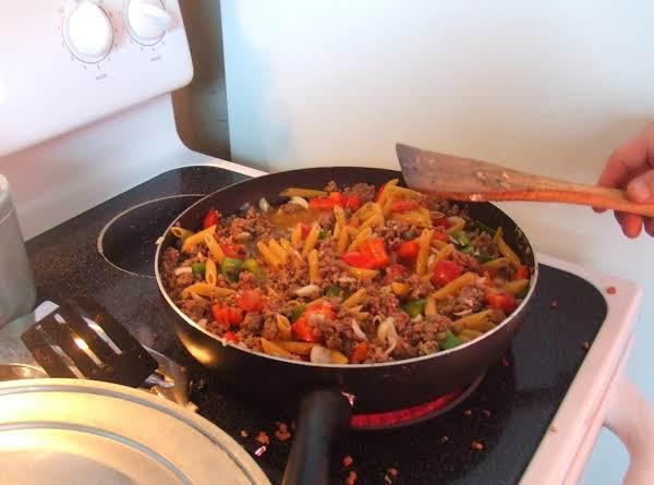 Blake & Dads Beef Pasta Dish