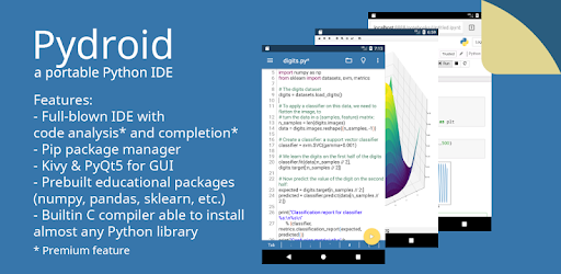 Pydroid - Educational IDE for Python 2 - by IIEC - Education