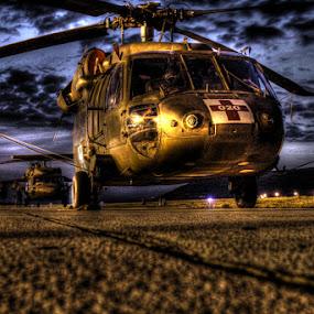 US ARMY UH-60 Blackhawk Split, Croatia in HDR by AJ VILLAMAYOR - Transportation Airplanes