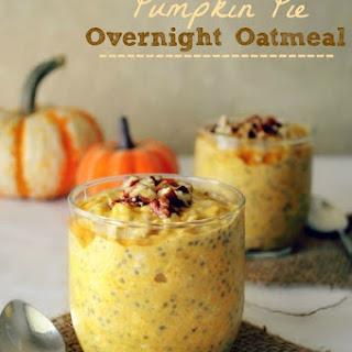 Pumpkin Pie Overnight Oatmeal Recipe