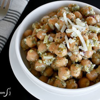 Chickpea Pesto Salad.