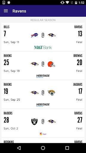 Baltimore Ravens Mobile Screenshot