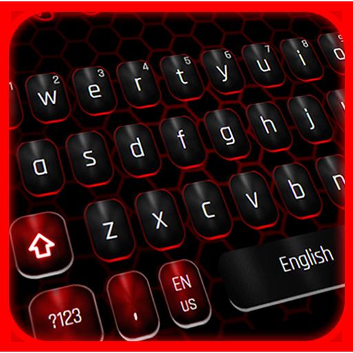 Classic Black Red Keyboard