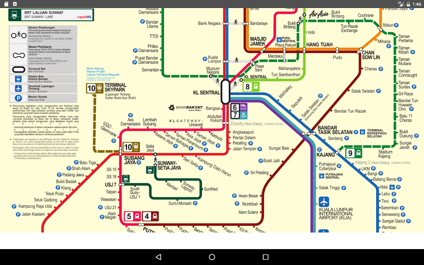 kuala lumpur metro map 2017 android apps on google play. Black Bedroom Furniture Sets. Home Design Ideas